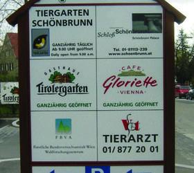 Alphasign-Schild-Schoenbrunn